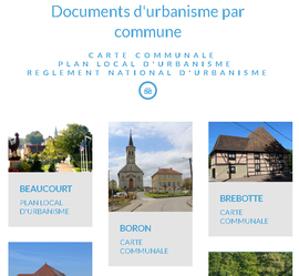 Documents d'urbanisme en téléchargement